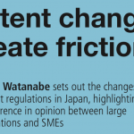 "Satoshi Watanabe authored an article titled ""Patent changes create friction"" for Intellectual Property Magazine"